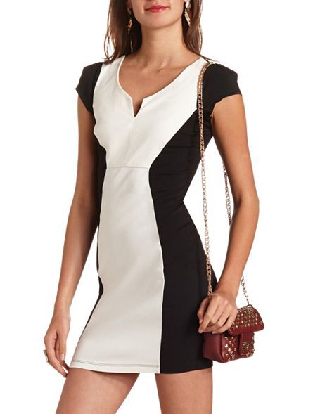 Color Block Millennium Dress: Charlotte Russe