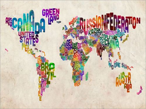 love this !: Texts Maps, Michael Tompsett, Typographic Texts, Art Prints, World Maps, Canvas, Typography, The World, Worldmap