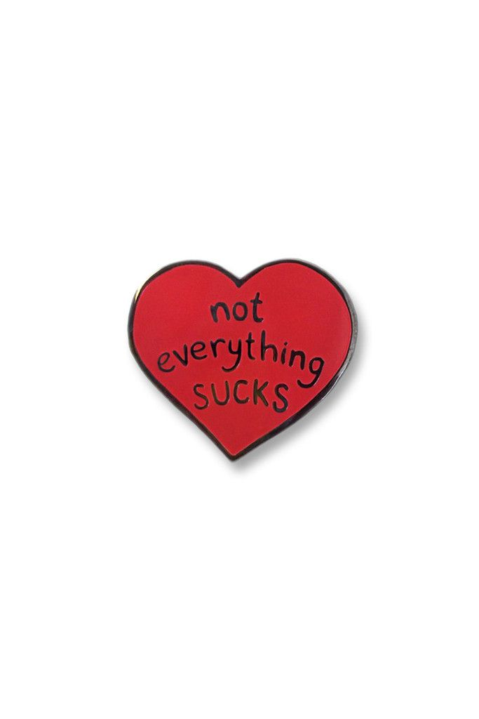 "Not Everything Sucks Enamel pin badge. Wear your pin with pride. Click <a href=""http://www.abandonship.co/shipping/"" target=""_blank"">HERE</a> for a"