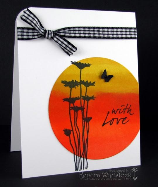 By: Kendra Wietstock; Crafter's Companion ~ Spectrum Noir Markers & Silhouette Wildflower.