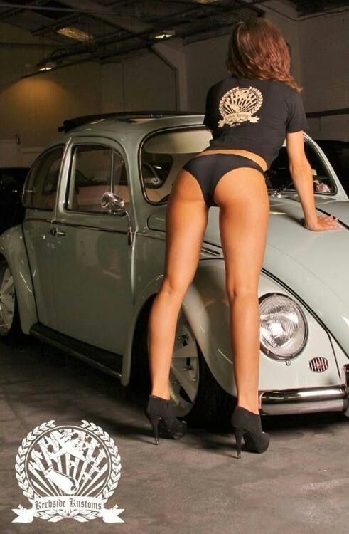 Vw Girl Ass, # vw beetle # Beautiful Pin ... ♠ # van # legs # old school ♠... X Bros Apparel Vintage Motor T-shirts, VW Beetle & Bus T-shirts, Great price