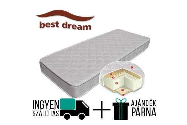 A Best Dream Siglo vákuum matrac 20 cm magas, kemény érzetű. Téli-nyári oldalas, egyik oldalba pamut a másikba gyapjú van steppelve.  A gyártó 15 év garanciát vállal a matracra.  http://matracom.hu/termekek/hideghab-matracok/best-dream-siglo-vakuum-matrac/