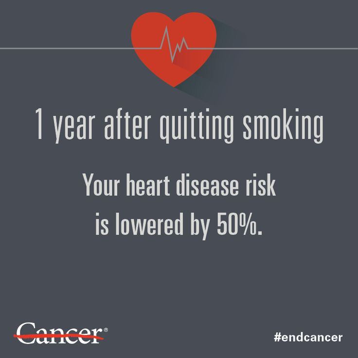 The health benefits of quitting smoking start almost immediately. By quitting at any time, you can add years to your life. Learn about other health benefits.