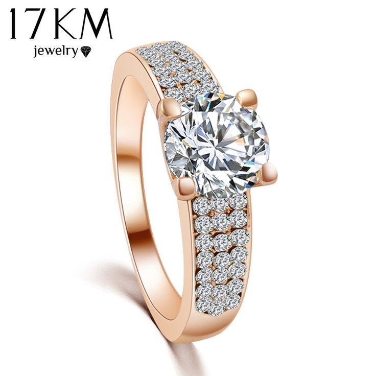 Diseño de marca nueva moda de lujo de la SWA de Austria Crystal boda anillo de la joyería del partido de compromiso del platino anillos mujeres cheap engagement rings for men joyeros grandes joyeria marcas 2015 M12