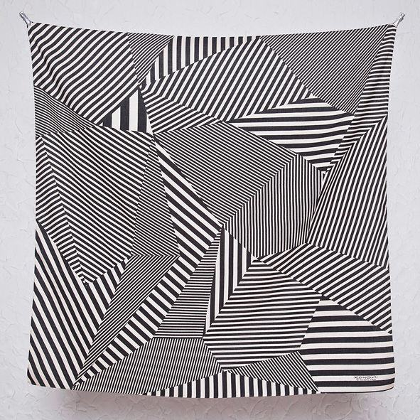 KONOMI(このみ)綿二四巾ふろしき stripe(ストライプ)ブラック(97cm)