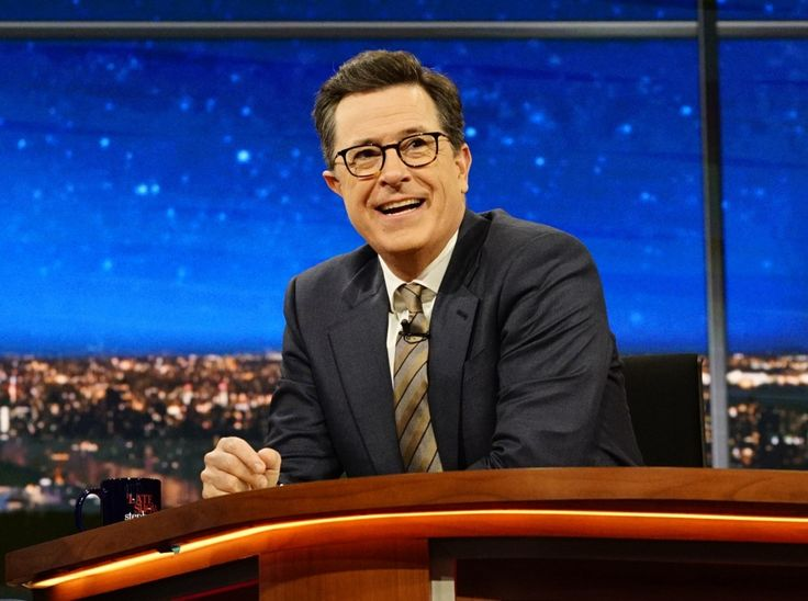 """Melissa McCarthy's occasional impersonation of """"Spicey"""" on """"Saturday Night Live"""" became an instant classic, helping draw the most viewers the show has had since the Clinton administration. But it was Stephen Colbert who was slinging jokes and routines aimed at Spicer's infamously short fuse and bluster on what seemed like nearly every episode of the Late Night Show on CBS."""