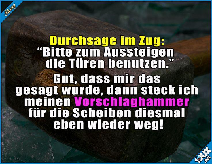 Echt wichtige Durchsage! ^^' #nurSpaß #DeutscheBahn #Humor #lustigeSprüche #Sprüche #lustig #Jodel #Bahn #Memes