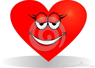 Vector drawing of a smiling the heart.