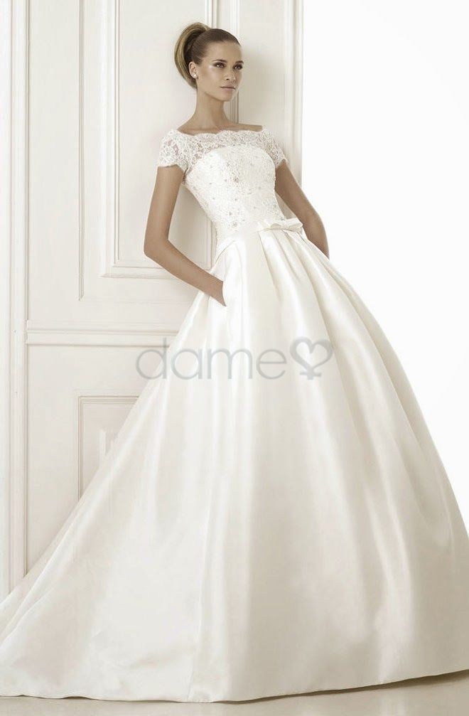 Wedding Dresses - $212.19 - A-Line/Princess Off-the-Shoulder Chapel ...