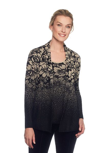7d68bf59 Check out Petite Metallic Floral Cardigan from Ruby Rd.   Clothing ...
