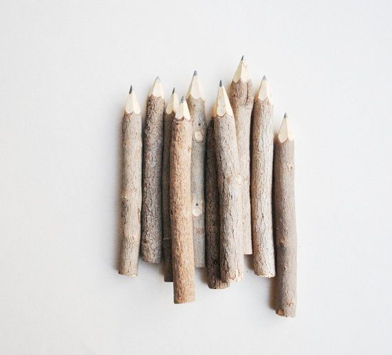 Wood pencils from Inkkit on Etsy ~ http://www.etsy.com/listing/95588540/10-4mini-twig-pencils?ref=pr_faveitems