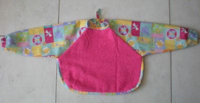 Terry Cloth Baby Bib with Sleeves