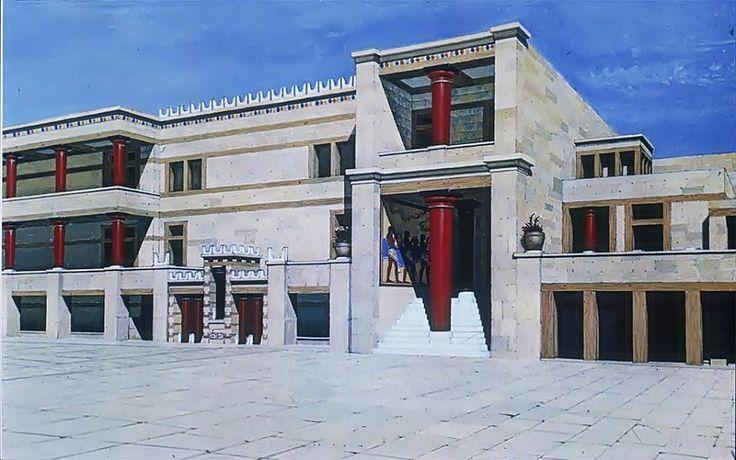 Κνωσός (Knossos), Palace rendering 2