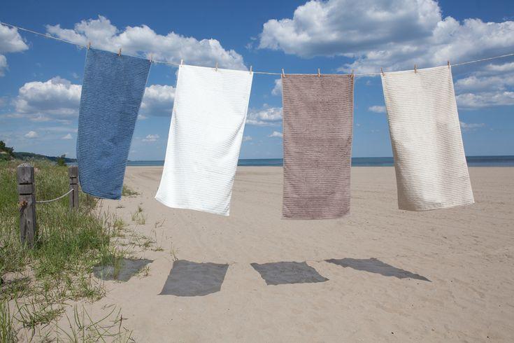 Bath Sheet - Organic Cotton Ribbed.
