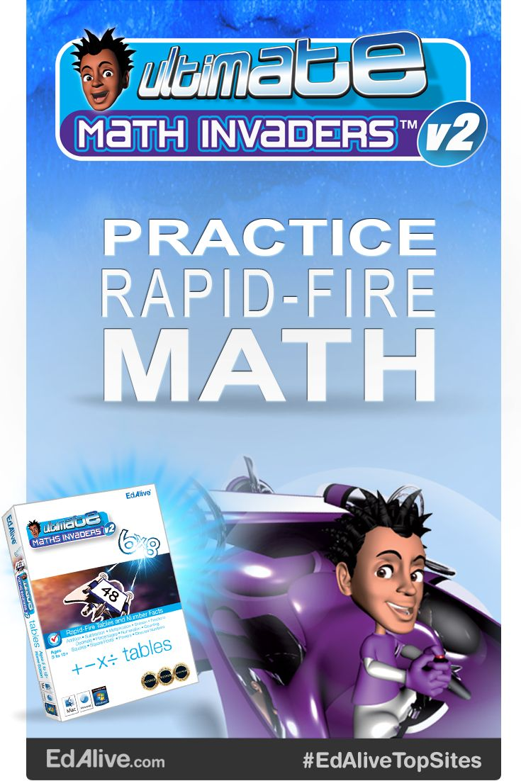 Rapid-Fire Tables and Number Facts Use rapid-fire tables and number facts to defend the planet from waves of invading maths problems! Get started straight out of the box, or take advantage of the powerful diagnostic and reporting capabilities to zero in on your child's learning needs. They will master addition, subtraction, multiplication, division, fractions, decimals, percentages, numeration, counting, squares, square roots, powers and directed numbers. #EdAliveTopSites