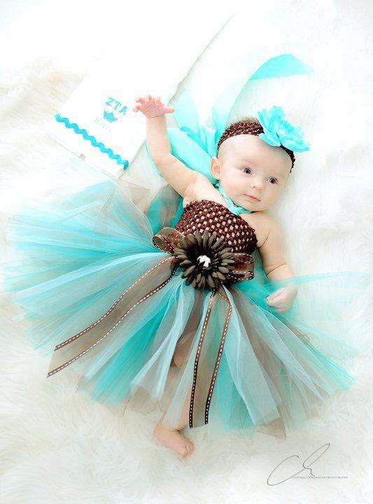 Gorgeous CHOCOLATE TEAL TRUFFLE Tutu Dress