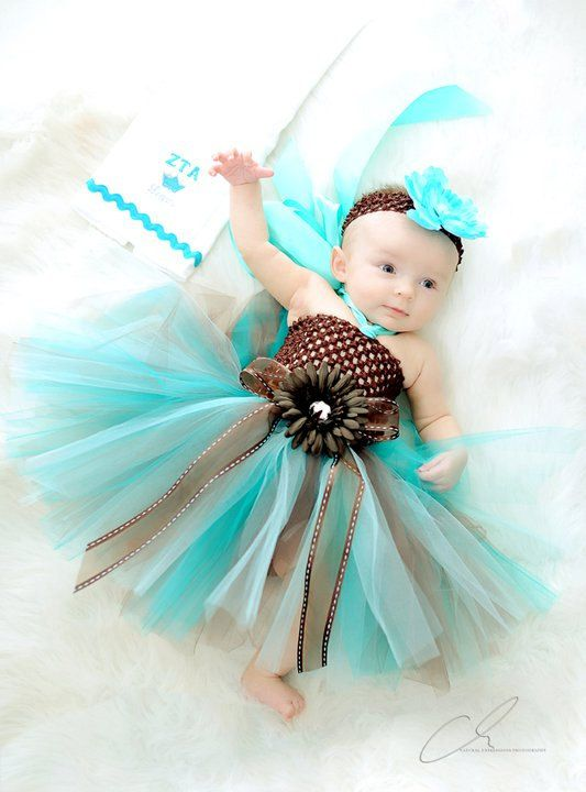 Gorgeous CHOCOLATE TEAL TRUFFLE Tutu Dress (Size Newborn - 18mo) - Photography Prop, 1st Birthdays, Weddings, Special Occasions. $33.50, via Etsy.