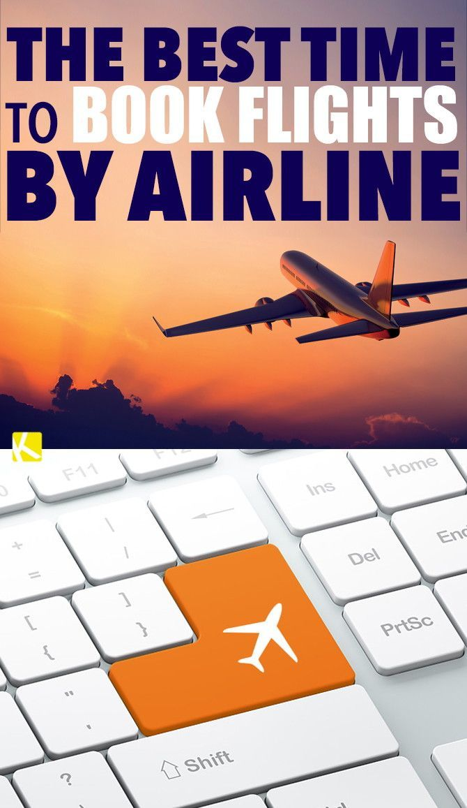 The Best Time to Book Flights by Airline