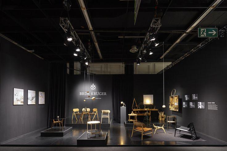 Brdr. Krüger's stand at IMM Cologne 2017 #interior #interiordesign #design #furniture #oeostudio #hansbølling #sverreuhnger