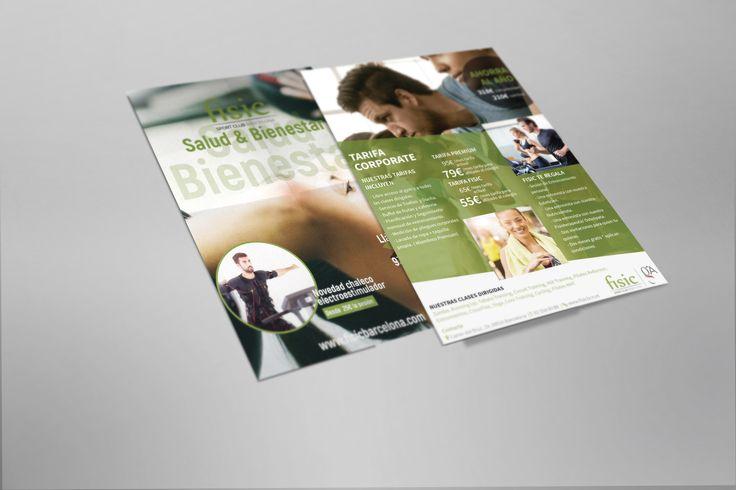 Flyer para Físic Barcelona #gym #flyer #graphicdesign #design #barcelona #laende