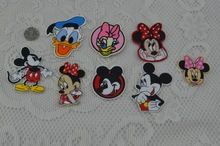 Gratis verzending gemengde 8 stks muis cartoon Ijzer Op doek Patches Gegarandeerd Geborduurde Gewaad Iron Op Patch rock retro applique(China (Mainland))