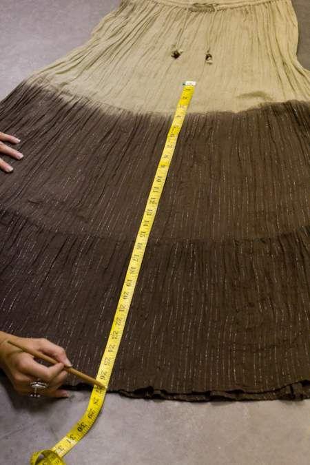 DIY Skirt to Palazzo Pants