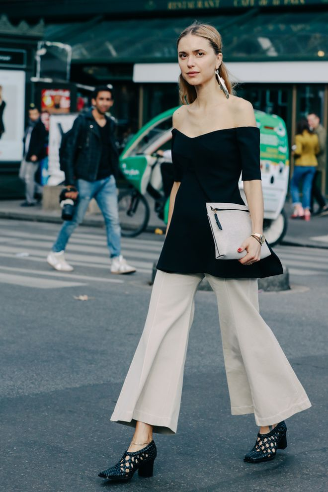 FWPE16 Street Looks at Paris Fashion Week Spring/Summer 2016   off shoulder, ombro a ombro, moda, street style, look, pernille teisbaek