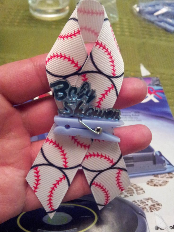 Baseball Baby Shower Pin Favors For The Guests To Wear