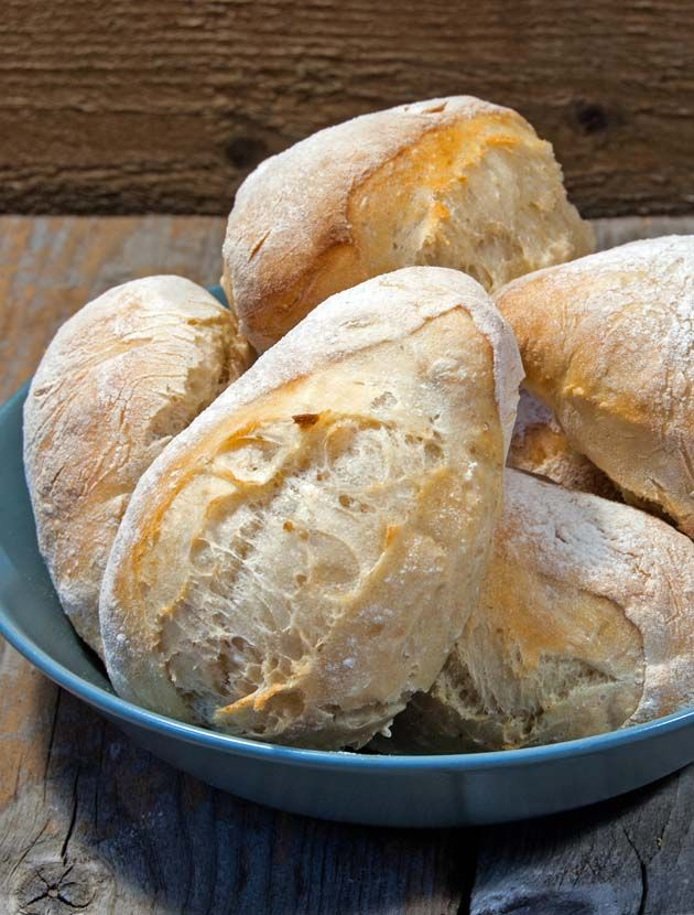 No kneading required. Just mix the dough before you go to bed, and you will have freshly baked sourdough breakfast rolls next morning.