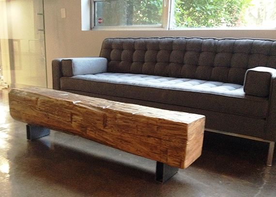 Reclaimed Barn Beam Coffee Table Supplied To Armstrong