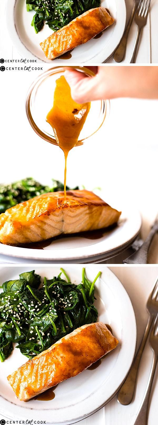 This delicious and EASY HONEY GLAZED SALMON goes from fridge to table in less that 30 minutes and using just 6 ingredients!