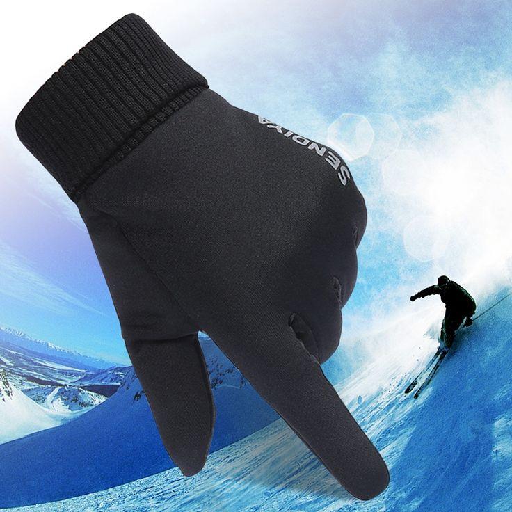 Высокое качество Лыжные Перчатки мужские походы Мужская Сноуборд Снегоход Мотоцикл Езда экран сенсорный Зимние Перчатки Ветрозащитные Перчатки #men, #hats, #watches, #belts, #fashion