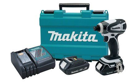image for Makita 18V Compact Lithium-Ion Cordless Impact Driver Kit (4-Piece)