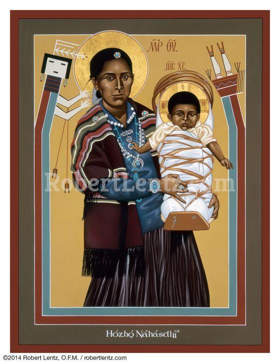 Мадонна, Богородица. Индейский мотив. Дева Мария. Аналитики Точка зрения