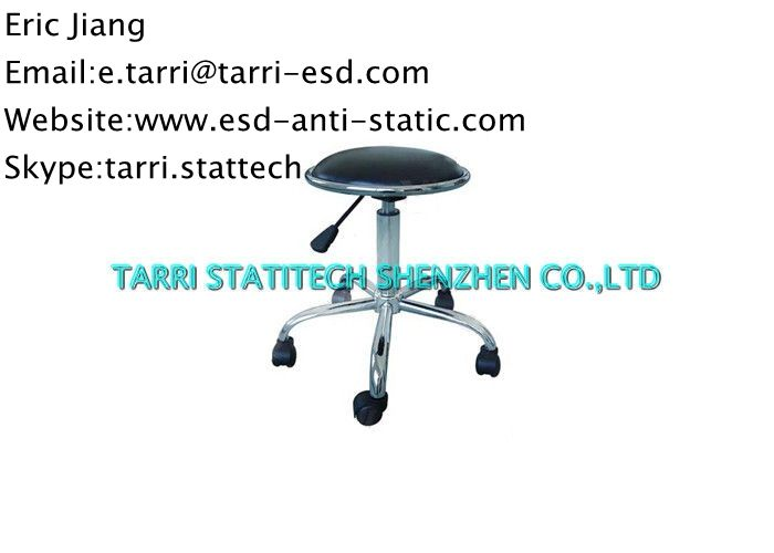 lab adjustable esd chairs pu leather office chair ergonomic stool