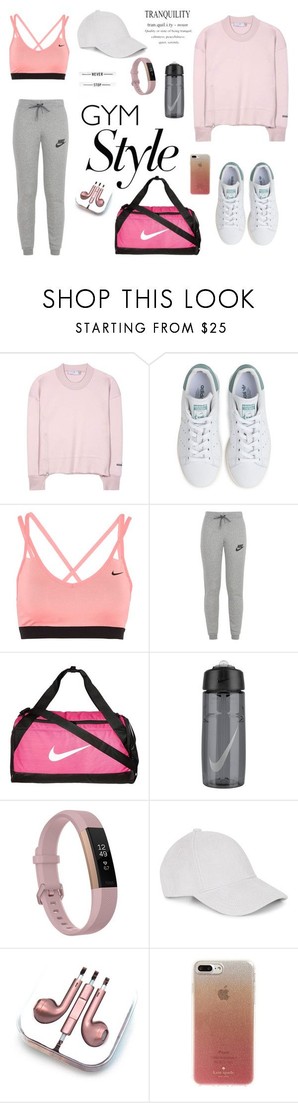 """untitled 520"" by deboraaguirregoncalves on Polyvore featuring moda, adidas, NIKE, Fitbit, PhunkeeTree e Kate Spade"