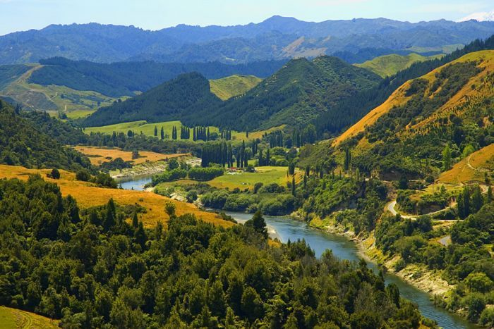 Whanganui River on New Zealand's north island