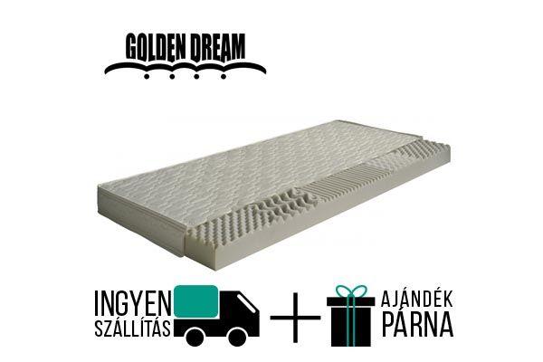 Golden Dream Apple vákuum matrac egy félkemény konfort érzetű, 10 cm magas 5 ergonómiai zónás, levehető és mosható huzattal. A gyártó 2 év garanciát vállal.  http://matracom.hu/termekek/hideghab-matracok/golden-dream-apple-vakuum-matrac/