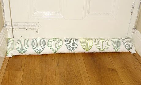 How to make a draught excluder ~ commenters have some great ideas as well, including using shells or gravel as the filler.