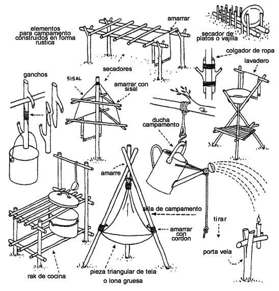 elementos do acampamento