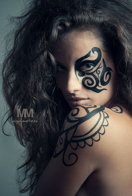 25 best ideas about black face paint on pinterest for Face tattoo makeup