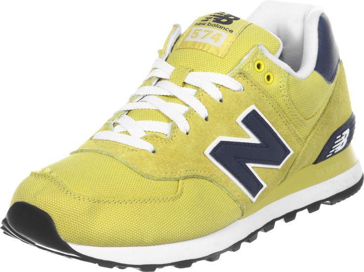 Chaussures New Balance ML574 Pour Homme - coloris: jaune/bleu foncé