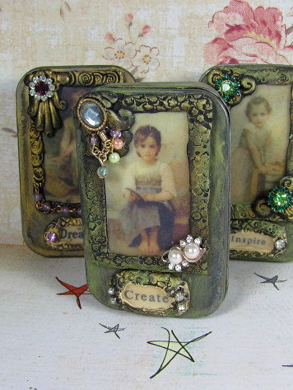 beautiful altered tins