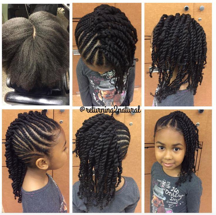 Sensational 1000 Ideas About Black Kids Hairstyles On Pinterest Kid Hairstyles For Women Draintrainus