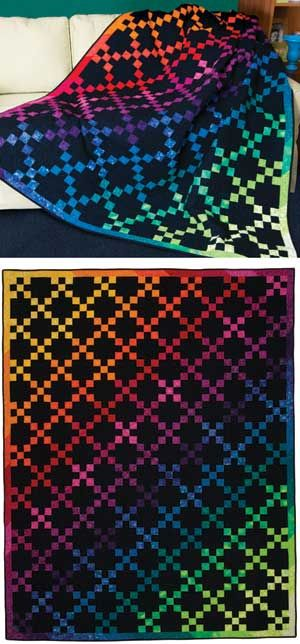 """Found a great fabric with colorful """"high top"""" tennies on them, which I will use for the border of this quilt!"""