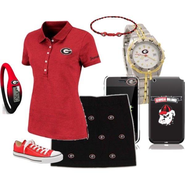 UGA game day outfit #Footballfortheladies