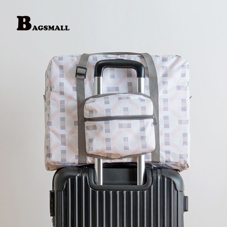 BAGSMALL Waterproof Travel Duffel Foldable Luggage Bag Women Travel Bags Weekend bag Portable Garment Organizer Put on Suitcase. Yesterday's price: US $37.76 (31.09 EUR). Today's price: US $17.75 (14.64 EUR). Discount: 53%.