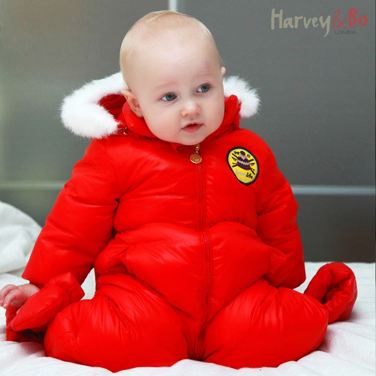 Harvey&Bo baby toddler's one piece down coat overalls infant snowsuit  boys girls hoodie romper baby winter clothes