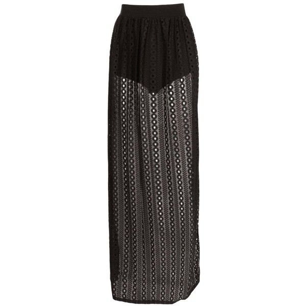 Millie Festival Crochet Lace Maxi Skirt ($1.44) ❤ liked on Polyvore featuring skirts, bottoms, ankle length skirt, maxi skirt, floor length skirt, long skirts and crochet lace maxi skirt