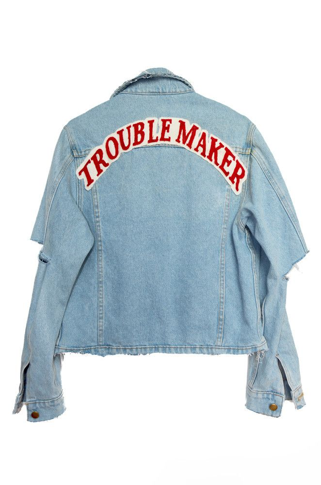 Trouble Maker Denim Jacket – NYLON SHOP